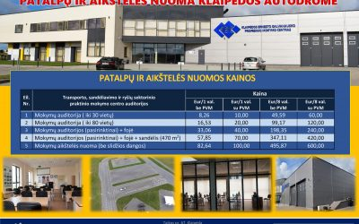Patalpų ir aikštelės nuoma Klaipėdos autodrome