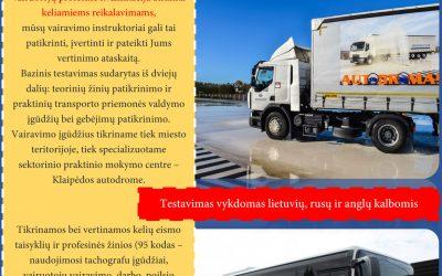 PASLAUGA DARBDAVIAMS C, CE, D kategorijų vairuotojų testavimas!